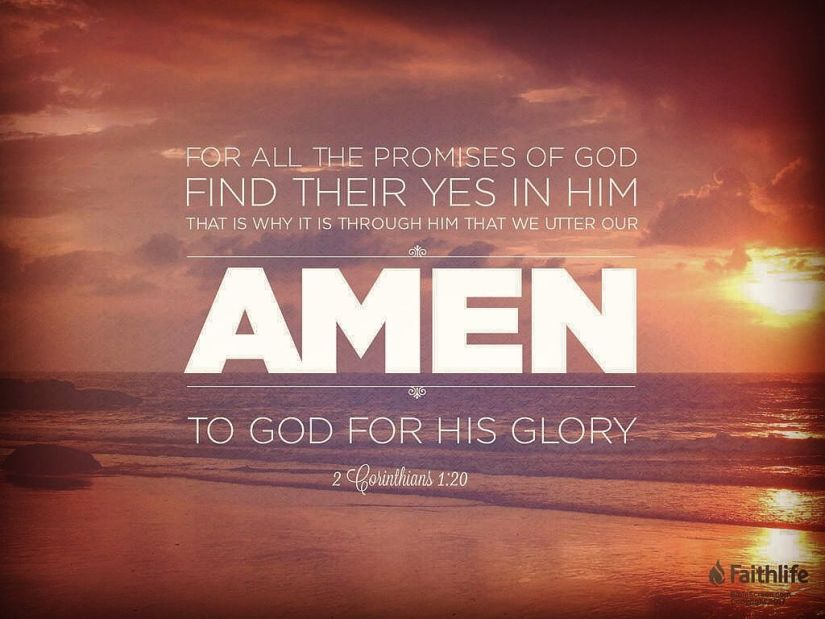 all of God's promises are yes and amen