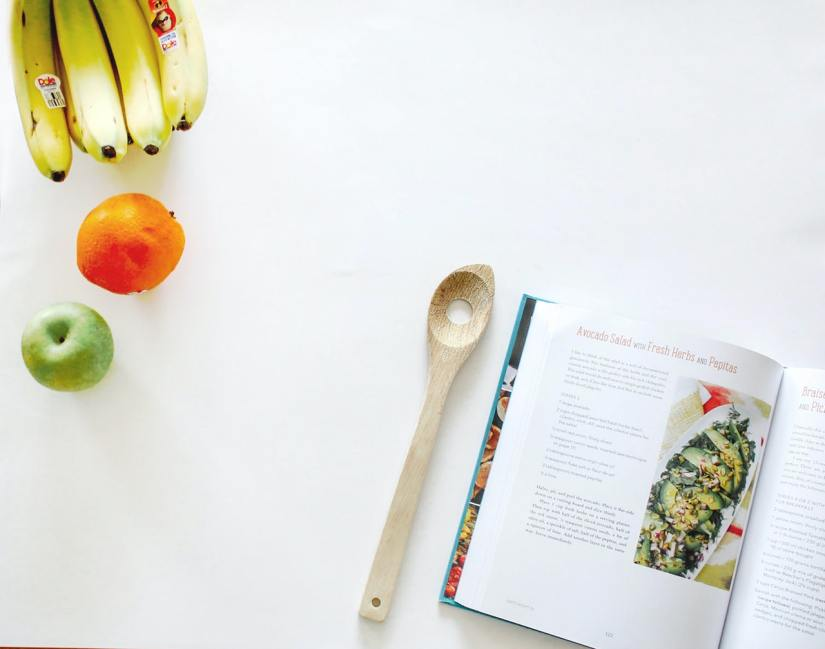 healthy food and cookbook