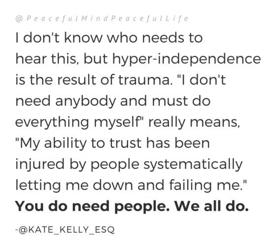 isolation is trauma, healing trauma