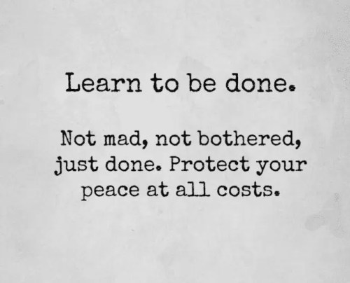 learn to be done
