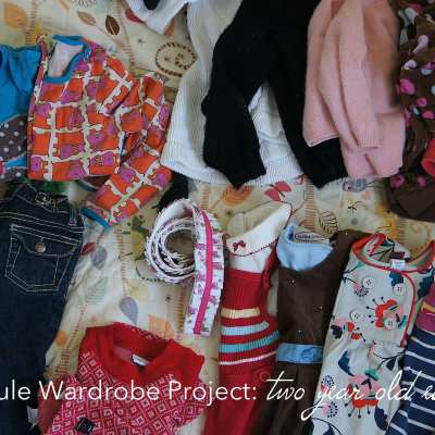 Capsule Wardrobe volume 2: ideas & inspiration for the two year old girl