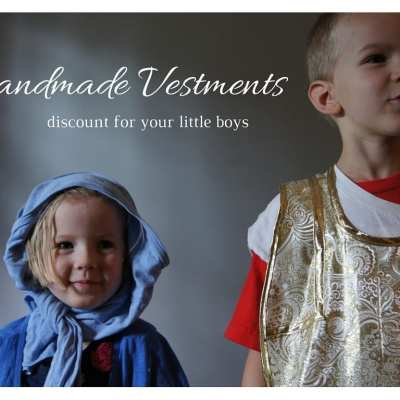 When My Kids Play Mass {{hand-made vestment review & coupon code}}