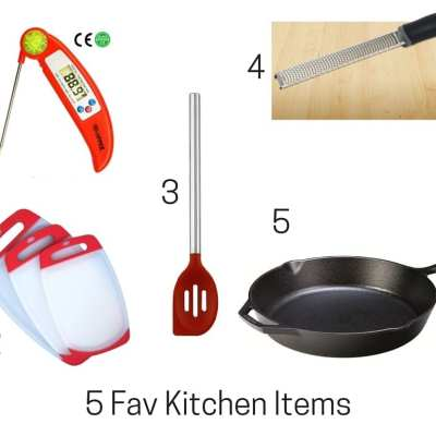 My Five Fav Kitchen Items and Cookbook Recs
