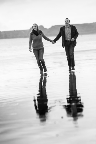 Winter Pre-wedding shoot in Tenby, west Wales by Whole Picture Weddings