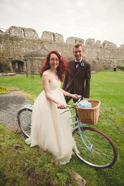 Refurbished vintage bicycle | Wedding at Manorbier Castle by Whole Picture Weddings