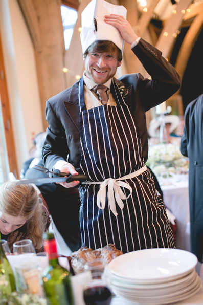 Get the guests involved - a chef per table! |Spring wedding at Rhosygilwen by Whole Picture Weddings