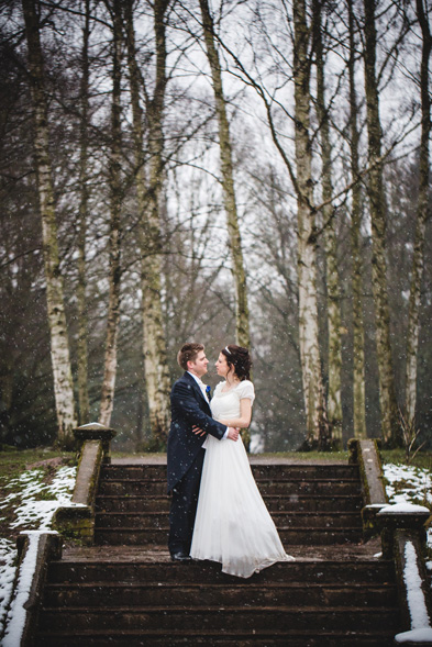 Bethany and Lewis in snowy Shropshire
