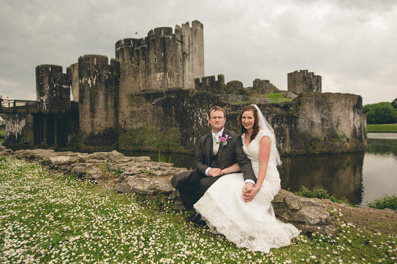 Laura and Eamon at Caerphilly Castle