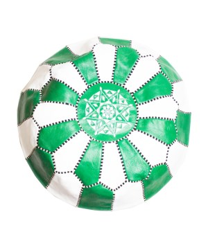 White-Green Mix Pouf-0