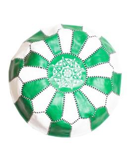 White-Green Mix Pouf-0