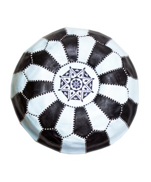Black-White Mix Pouf-0