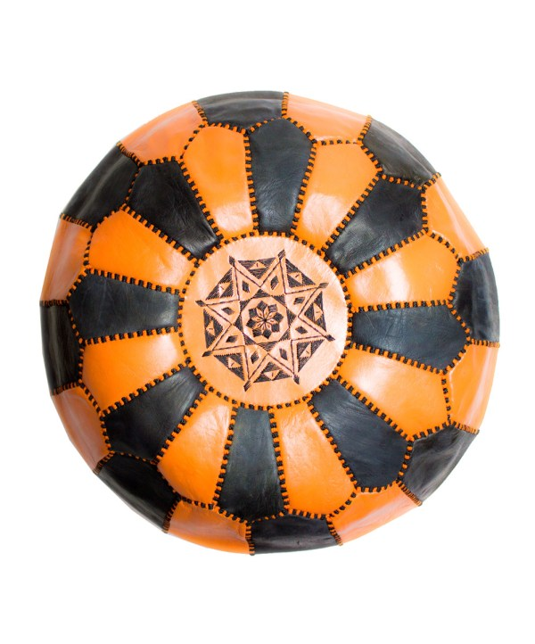 Black-Orange Mix Pouf-0