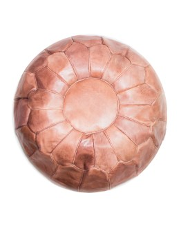 Brown-Tan Classical Pouf-0