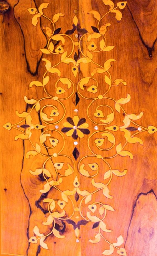 Tray of Thuya wood WP-04WT -2888