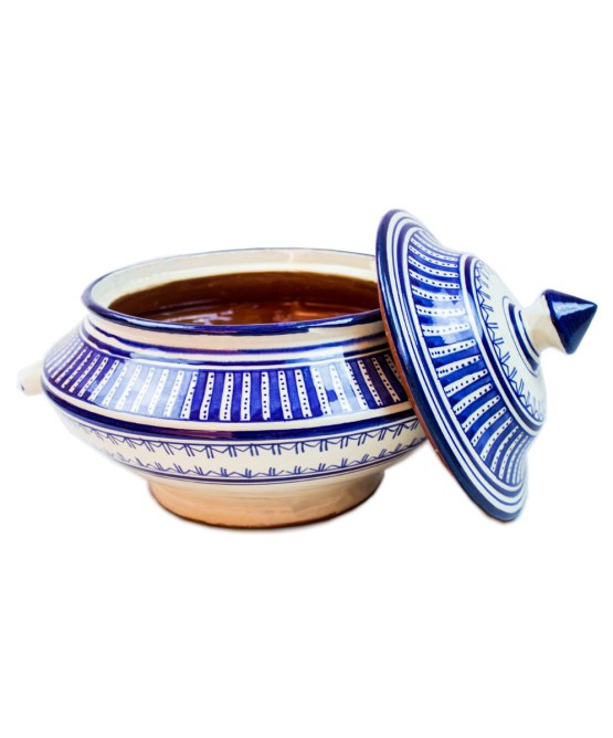 Ceramic Soup Tureen with his Bowls-2978