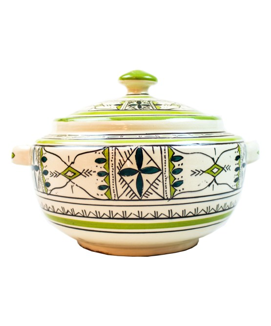 Ceramic Soup Tureen with his Bowls-2945