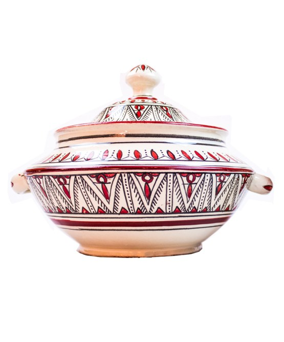 Ceramic Soup Tureen with his Bowls-2967