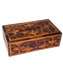 wood Tissue Box WJTB-04-0