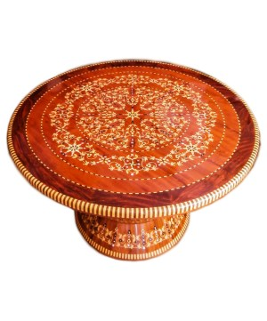 Traditional table made of Thuya wood TW02T-0