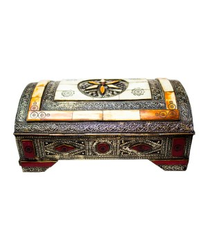handmade Box inlaid with camel bone and brass-0