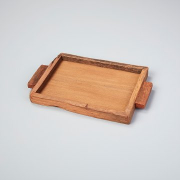 Reclaimed Wood Tray Rectangular Small