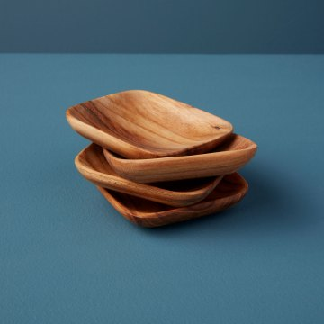 Teak Square Bowls Set of 4