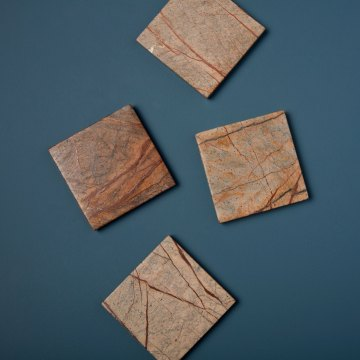 Forest Marble Square Coasters Set of 4