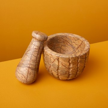 Forest Marble Mortar and Pestle
