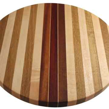 American Made Round Striped Board