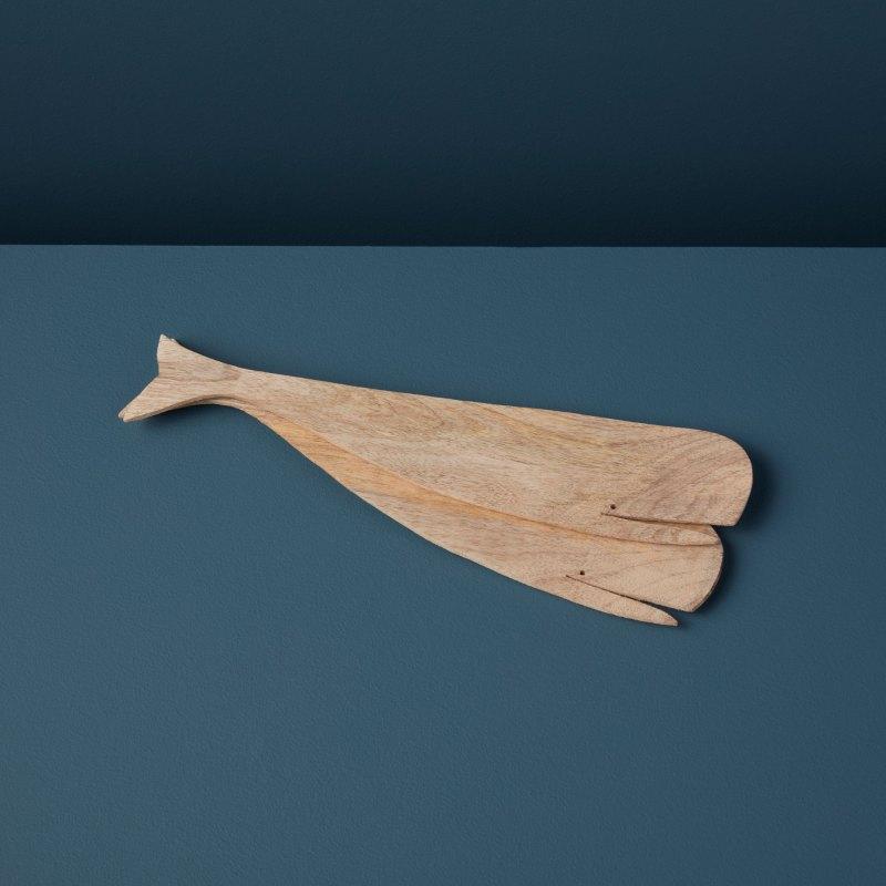 Natural Mango Wood Whale Serving Set
