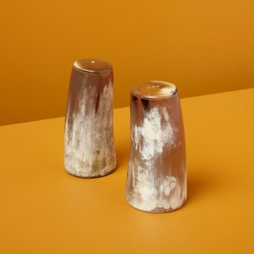 Horn Salt & Pepper Set Large