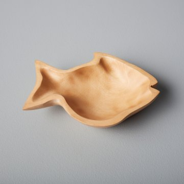 Mango Wood Fish Dish Small