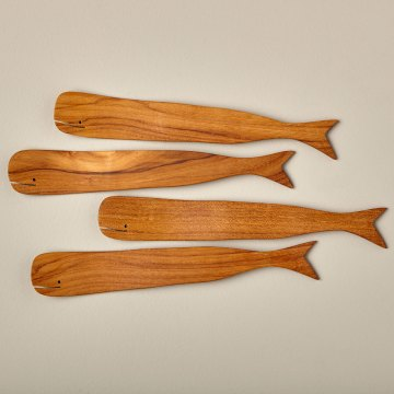 Teak Whale Spreaders Set of 4