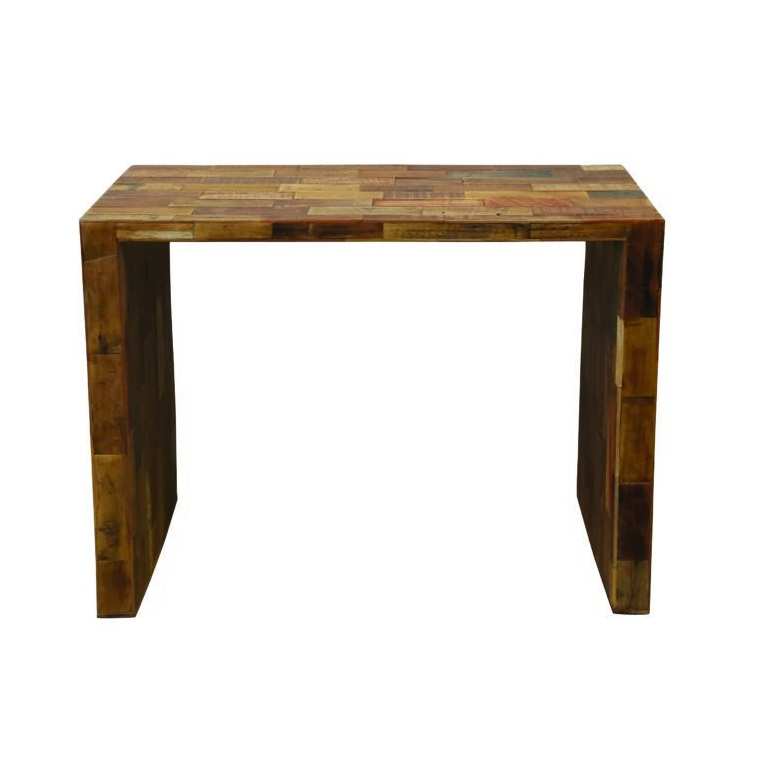 Reclaimed Wood U-Shaped Table, Small