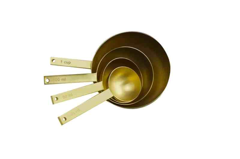 Gold Measuring Cup Set of 4
