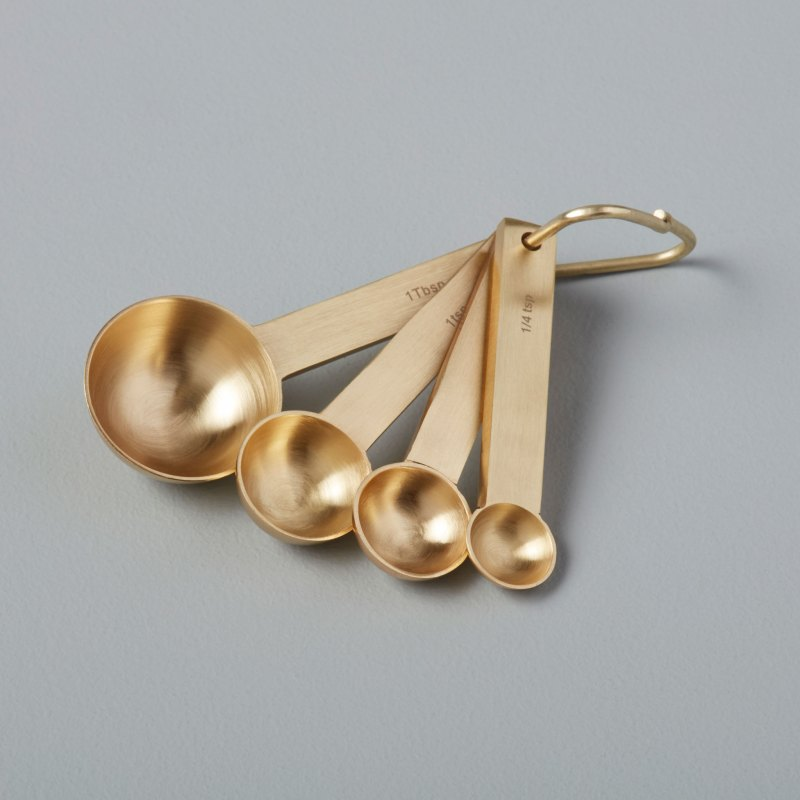 Gold Measuring Spoon Set of 4