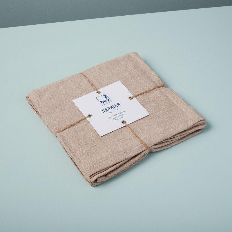 Linen Napkins Birch Set of 4