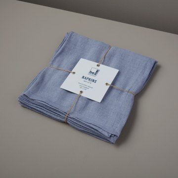 Linen Napkins Chambray Set of 4