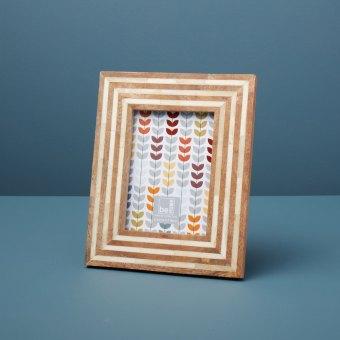 Wood and Bone Striped Frame