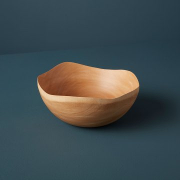 Mango Wood Wave Edge Bowl Medium