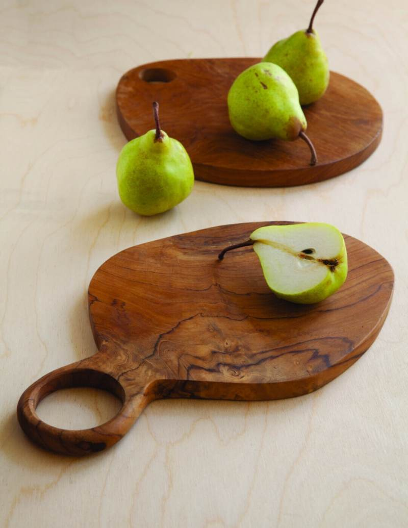 Teak Oval Board with Handle