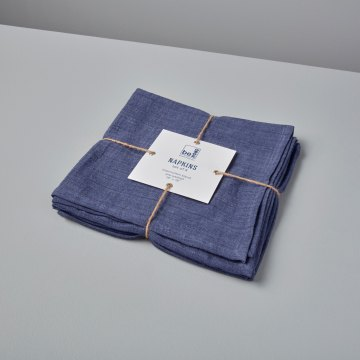 Linen Napkins Indigo Set of 4