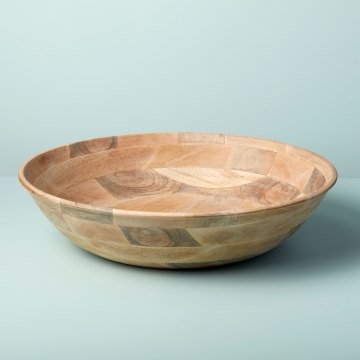 Mango Wood Round Bowl XL