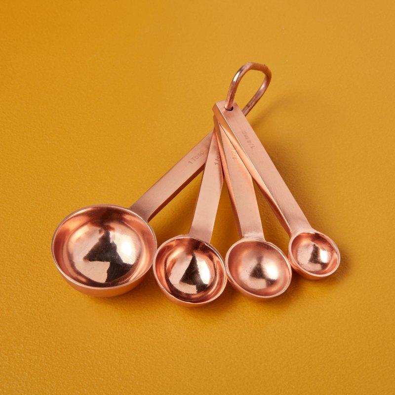 Copper Measuring Spoon Set of 4