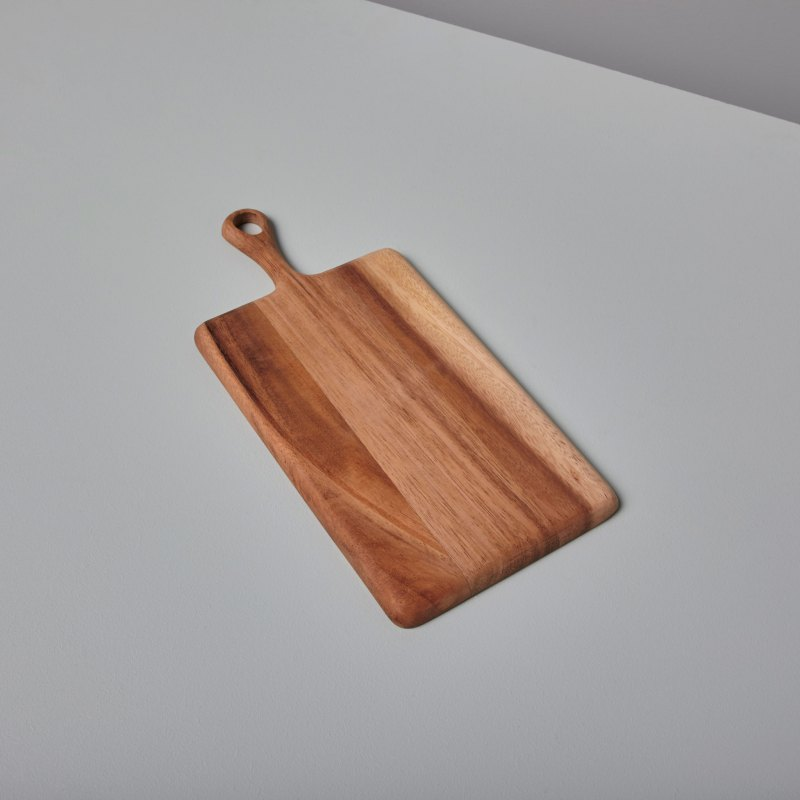 Acacia Rectangular Board with Short Handle Mini