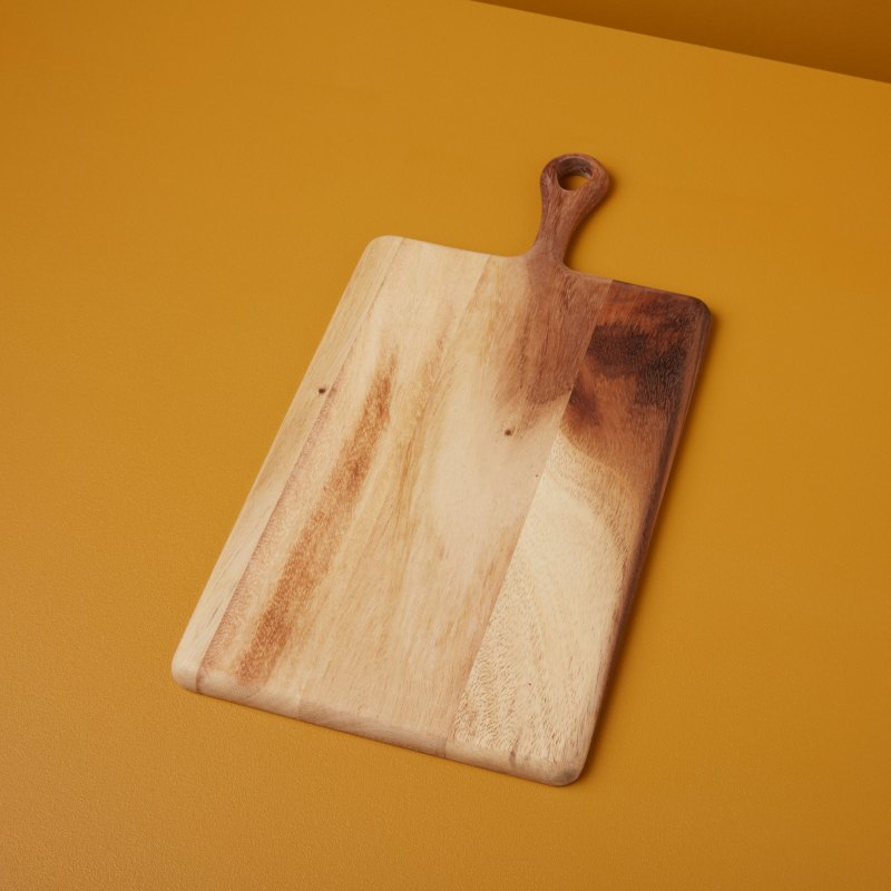Acacia Rectangular Board with Short Handle Small