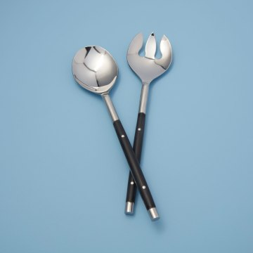 Stainless with Black Inlay Serving Set of 2