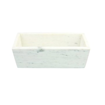 White Marble Rectangular Planter