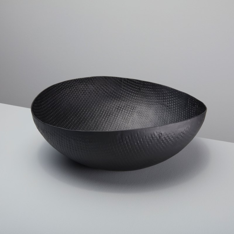 Black Crosshatch Aluminum Bowl Extra Large