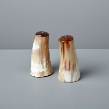 Horn Salt & Pepper Set Small